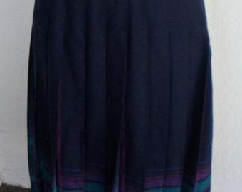 Vintage Skirt Wool Plaid Pleated Pendleton Petite 6
