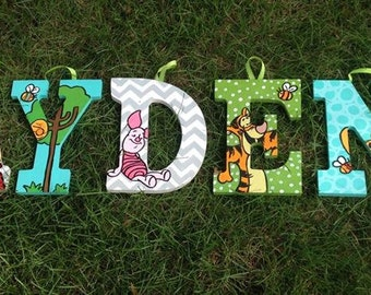 """Hand Painted 9"""" Winnie the Pooh letters"""