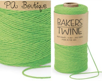 Lime Green 4-ply 100% Cotton Baker's Twine (FREE SHIPPING!)