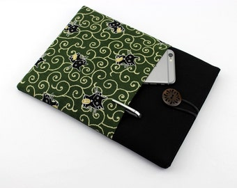 Cat Kindle Oasis Cover Gift Idea for Her iPad Pro 8.9 Sleeve Green