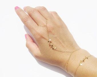 Slave Bracelet - Gold Filled Bracelet - Elegant Hand Chain - Bridesmaids - Layering Bracelet - Body Chain // Aylin