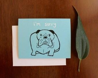 Greeting Card - I'm Sorry - Dog Pet loss