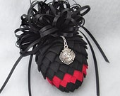 Firefighter Pinecone Ornament - Thin Red Line Firefighter Tribute Ornament - Firefighter Ornament - Honor a Firefighter