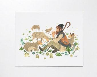 Shepherd - 8x10 art print