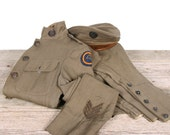 Antique WWI Army Uniform / wwI Jacket US Army Tunic Hat WWI Uniform / Antique Military Coat / Vintage Uniform / Sergeant German /Unique Gift