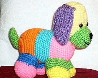 CROCHET PUPPY Patchwork Crochet Puppy