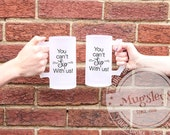 You Can't Sip With Us Frosted Beer Mug Set of 2, Beer Stein Gift, Funny Beer Mugs, Best Friend Gifts, Bridesmaids Gifts, Sorority Sisters