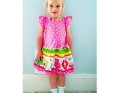 SWEETHEART Girl Baby Girl Dress sewing pattern Pdf, Flutter Sleeve Woven Dress, Size newborn 3m 6m 9m 12m 2 3 4 5 6 7 8 9 10 years