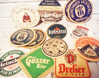 Vintage bar coasters ephemera paper cardboard double sided collection