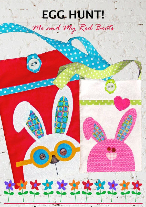 Egg Hunt Digital PDF Bag Pattern SPECIAL by TheRedBootQuiltCo