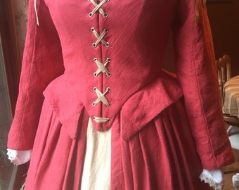 Elizabethan Gown in Linen - Made to Order