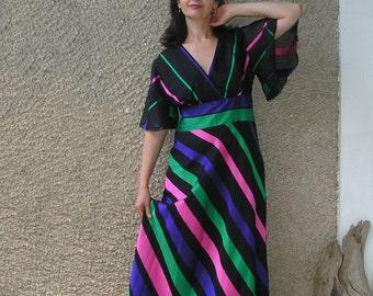 Vintage VERA MONT formal maxi dress, size L