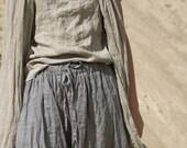 LONG LINEN SKIRT with side pockets / custom length
