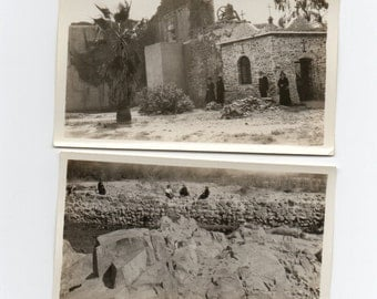 4 Antique Photographs Historical Church Or Mission Building Western America Old West Western Memorabilia Paper Ephemera Vintage Photo