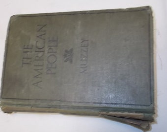 History Of The American People Book 1929 First Edition By David Muzzey High School Text Book