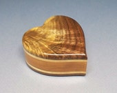 5.0 c.i. Heart Urn, Small Wooden Urn, Wood Cremation Urn, Unique Urn, Urn, Small Urn, Memory Box, Cremation Memorial, Small Unique Urn,