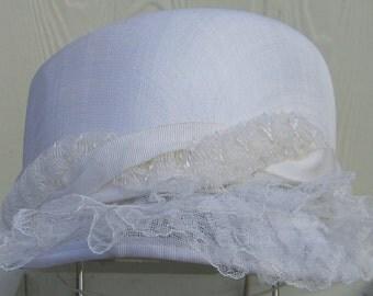 White elegant hat.