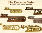 Executive Style Office Desk Top Name Plate, Hand made in the USA Using Exotic Solid Hardwood