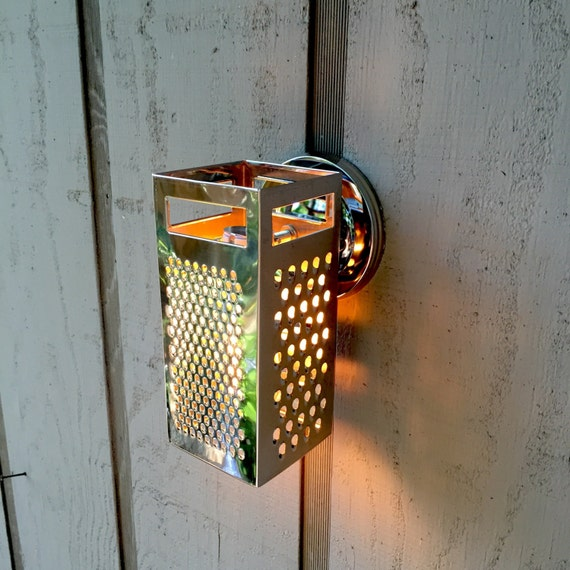 Wall Sconce Upcycled Grater