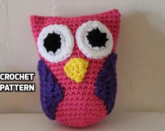 Stuffed Owl CROCHET PATTERN - Owl with Hairbow/Bowtie - Stuffed Owl Pattern