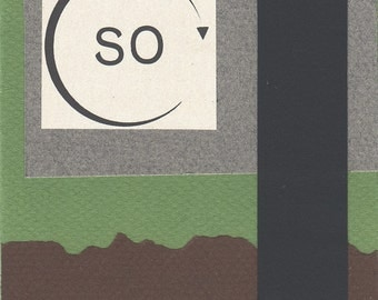 SO - paper collage note card