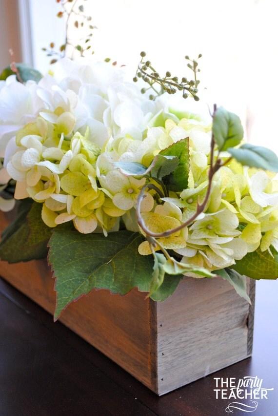 Rustic floral centerpiece hydrangea faux flower