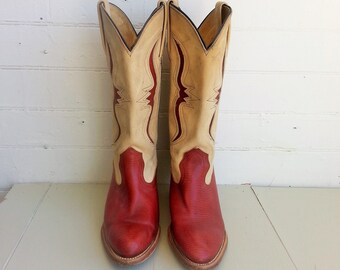Vintage Frye cowboy western boots size 7.5 womens