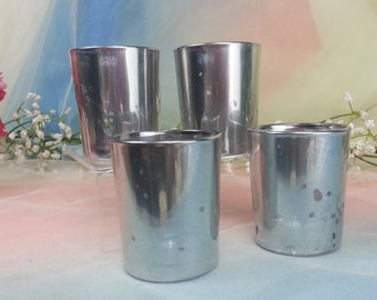 100 per order antique silver mercury glass votive candle holder for weddings and parties faux