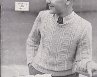 Vintage 1940s - Sunglo Knitting Pattern Series No 140 For Children - Original Pattern