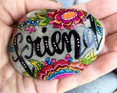 Friend / painted stones / painted rocks / gifts for friends / paperweights / rock art / words in stone / cape cod / beach decor / rocks