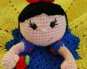Crochet Snow White Lovey