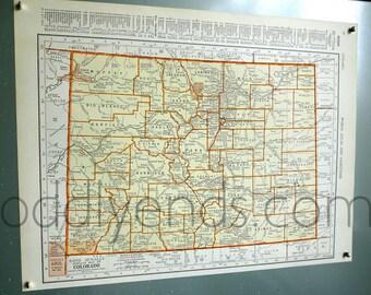1939 Colorado Vintage Atlas Map