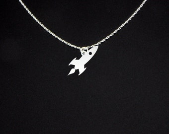 Rocketship Necklace - Rocketship Jewelry - Rocketship Gift - Rocket Necklace - Rocket Jewelry - Rocket Gift