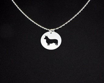 Pembroke Welsh Corgi Necklace - Sterling Silver