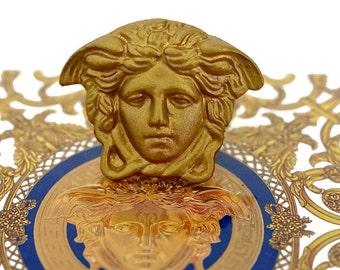 Vintage GIANNI VERSACE Medusa Brooch