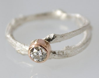 twig engagement ring etsy