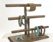 Wood Jewelry Display, Bracelet Display 3-Tier, Necklace Display, Bracelet Stand, Necklace Stand, Bracelet Holder, Choose the Color