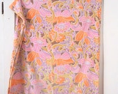 Twin Vintage Sheet Set Pink Lilac and Tangerine