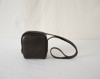 Vintage Fuzzy Lined Vinyl Camera Bag and Film // Photography Camera Video Equipment