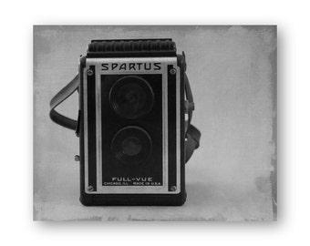 Vintage Spartus Camera Photo Art, Camera still life decor, Camera Collector Decor, Spartus Camera photo, Brownie Hawkeye Print