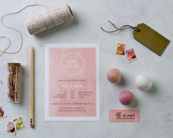 SUCRES PETIT BEBE - french baby shower invitation
