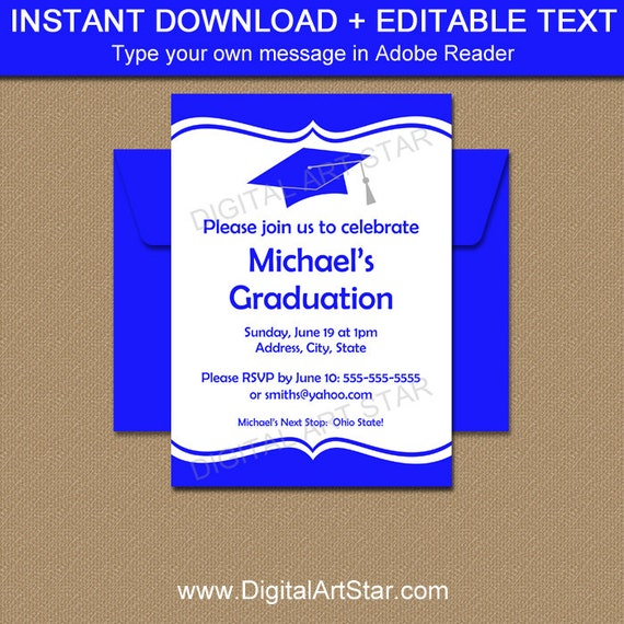 Graduation Invitation Template Download - Printable High School ...