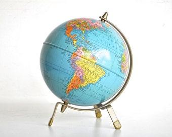 Colorful Mid Century Globe | Vintage Globe - Replogle Globe