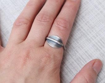 Silver Saddle Ring, Minimalist Ring, Size 7 Ring