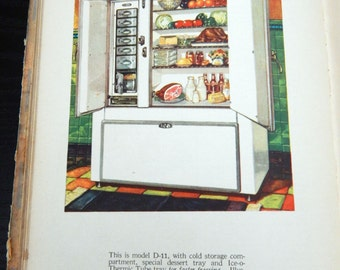 1930 Kelvinator Cookbook - New Delights From The Kitchen