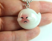 Mario Brothers inspired Shy Boo necklace Glow in the Dark