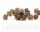 20pc 8mm Cathedral beads Smoke topaz acorn beads 8mm Czech glass beads Brown beads Bronze beads Fire polished beads 8mm faceted beads