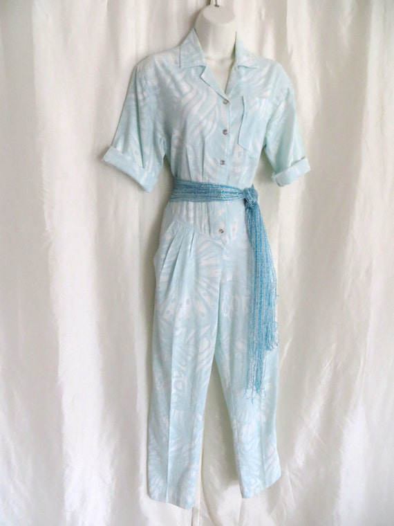 Vintage ladies jumpsuit hot pants