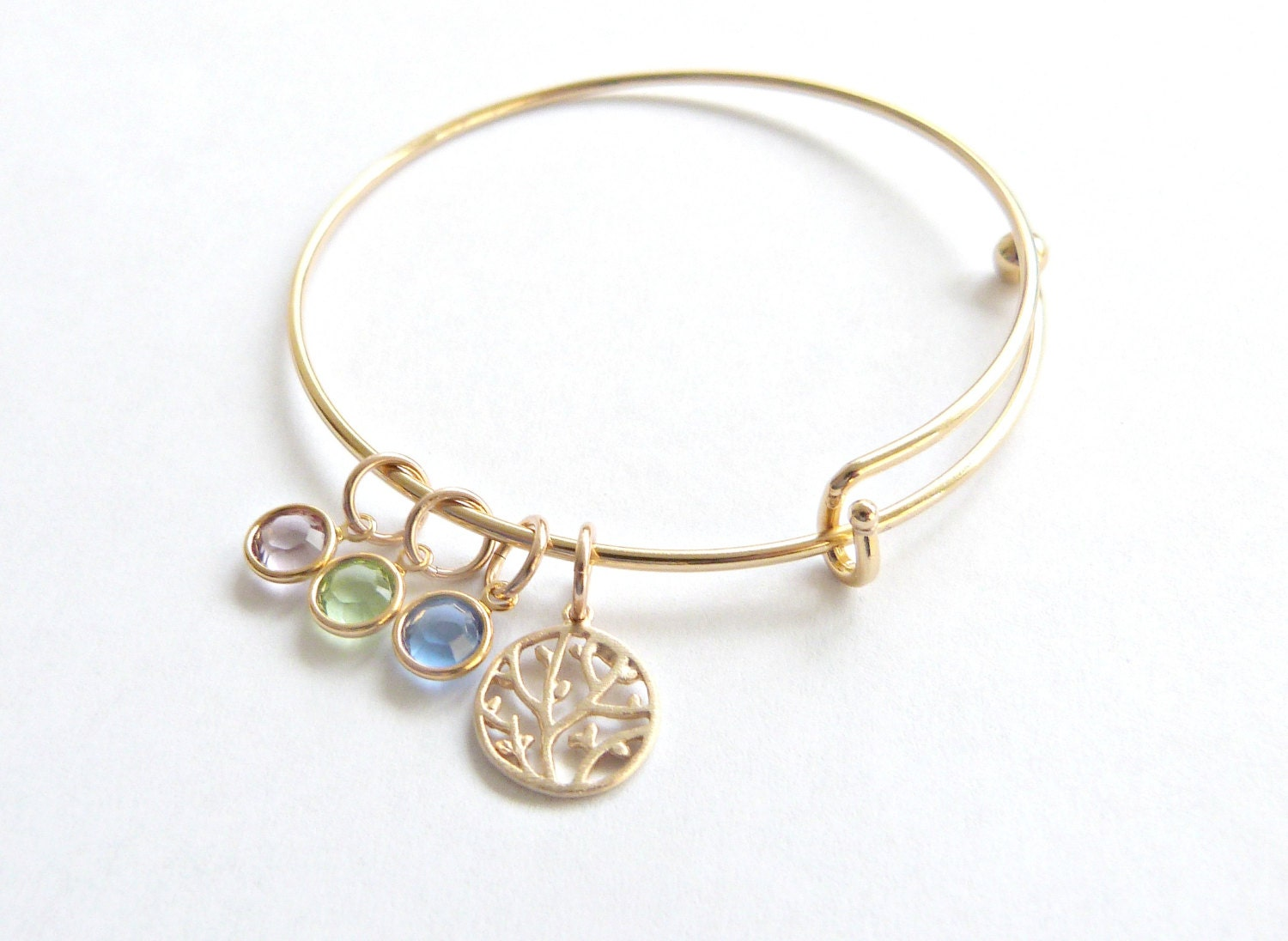 mothers day family tree bangle personalized braceletmothers