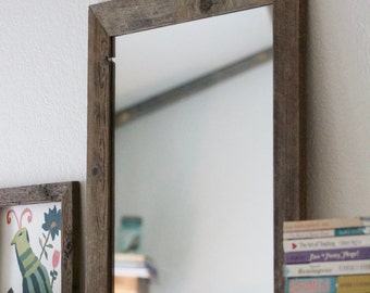 Wood Framed Mirror - Farmhouse Mirror - 20x24 Mirror - Rustic Home -  Reclaimed Wood - Hurd and Honey - Wood Mirror - Framed Mirror
